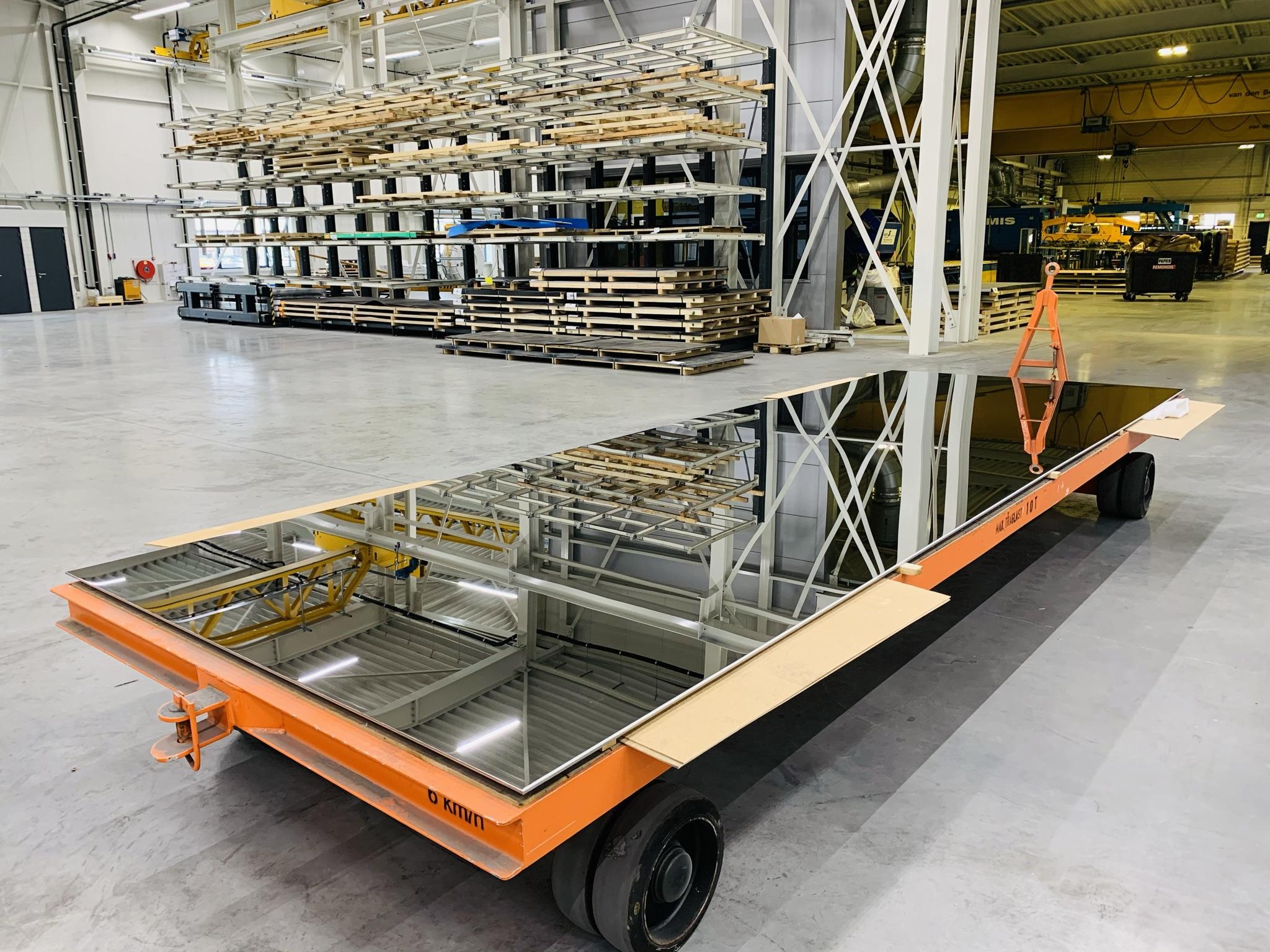 Grote RVS platen hoogglans gepolijst mirror 8