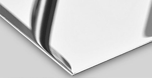 Hoogglans polijsten van platen (RVS spiegelplaten)