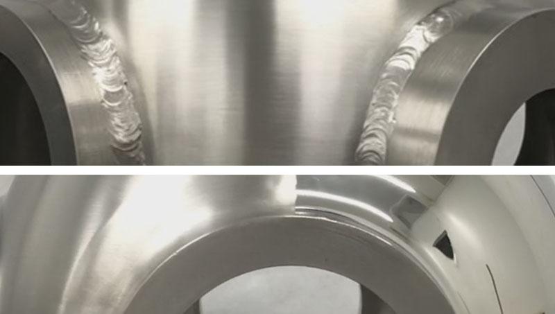 Manual welding seam operations.